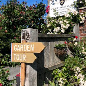 Beaufort House Akaroa 2020 House & Garden Tour sign