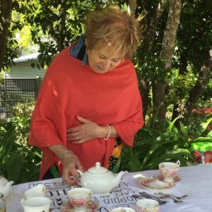 Beaufort House Akaroa 2020 House & Garden Tour Lady serving tea