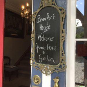 Beaufort House Akaroa 2020 House & Garden Tour Welcome sign