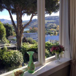 Beaufort House Akaroa - Fyfe Room - view from the window