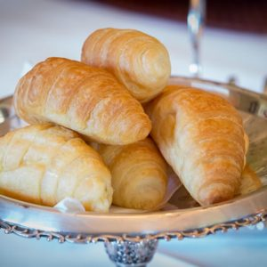 Croissants served for breakfast at Beaufort House accommodation akaroa