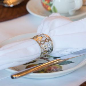 Beaufort House Breakfast - plate and napkin