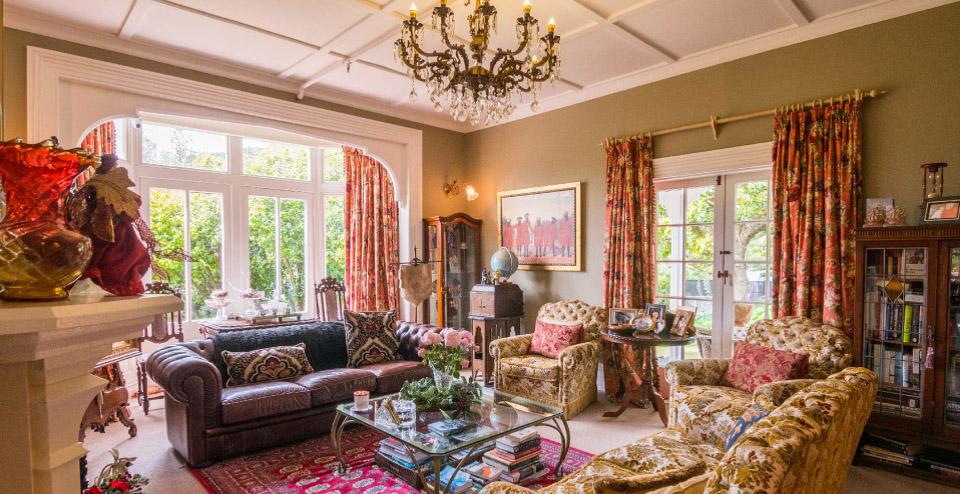 Beaufort House Akaroa- lounge